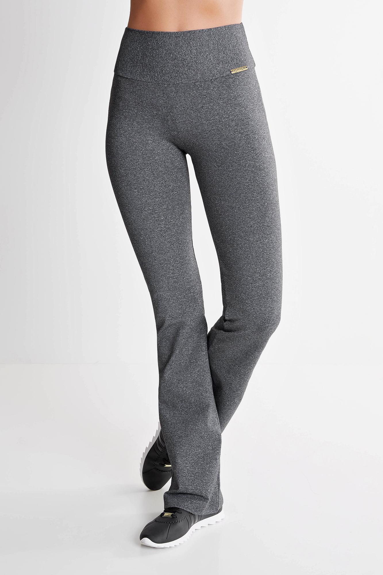 Calça Bailarina Cinza Mescla Escuro Mulheres Altas - Comprimento Personalizado