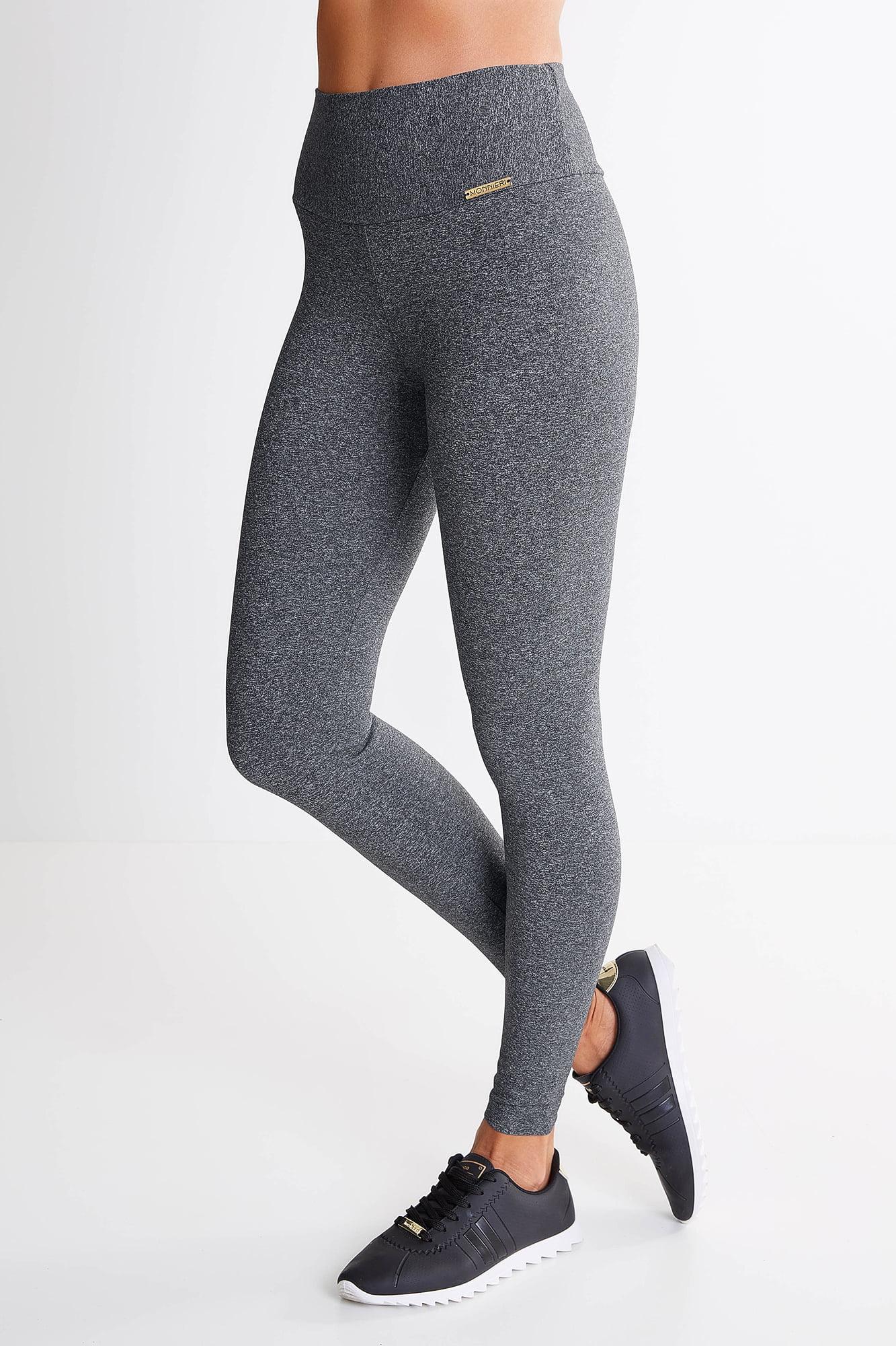 Calça Legging Cinza Escuro Mulheres Altas - Comprimento Personalizado