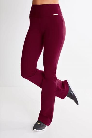 Calça Bailarina Bordô Mulheres Altas - Comprimento Personalizado