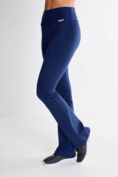 Calça Bailarina Azul Marinho Mulheres Altas - Comprimento Personalizado