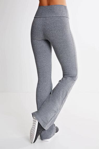 Calça Bailarina Cinza Mescla Claro Mulheres Altas - Comprimento Personalizado