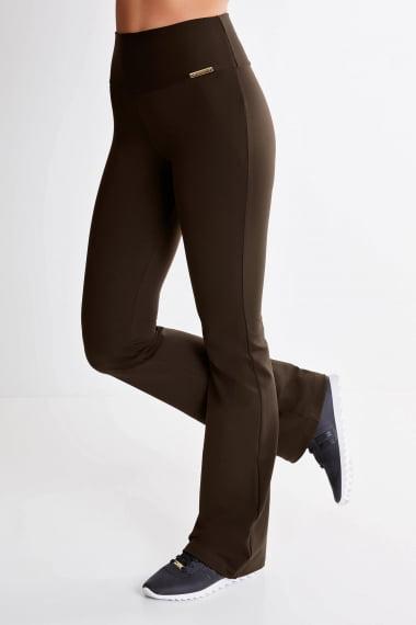 Calça Bailarina Marrom Mulheres Altas - Comprimento Personalizado