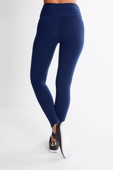 Calça Legging Azul Marinho Cintura Alta