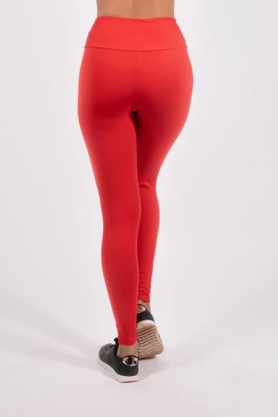 Calça Legging Vermelha Plus Size
